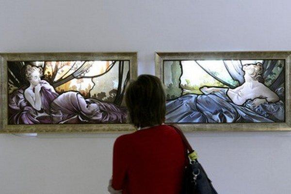 Z výstavy Alfons Mucha - Cesta ku sláve.