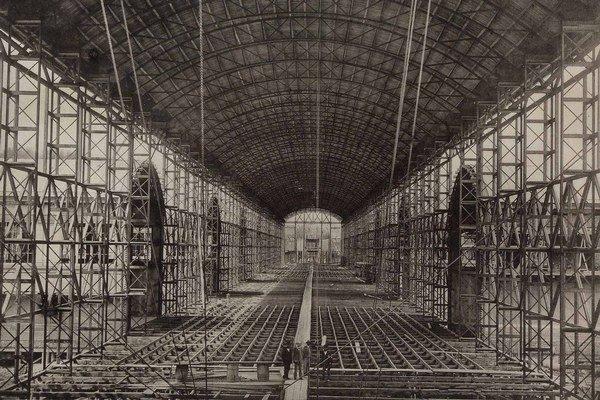 Výstavba priemyselného paláca, 1872