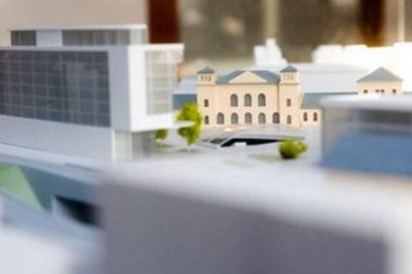 Model budúceho riešenia Hlavnej stanice.