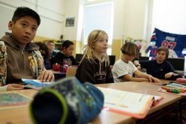 Školáci v Novom Meste.
