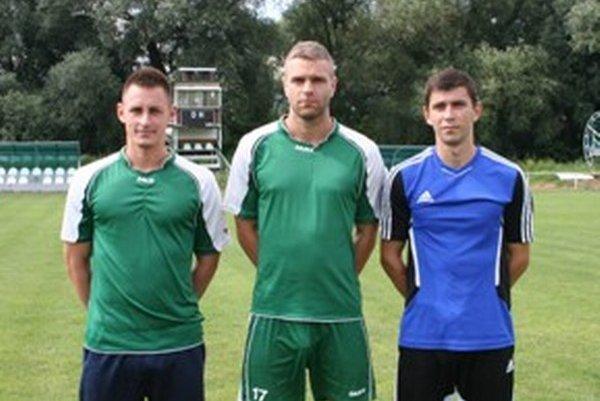 Posily Pohronia. Zľava: Mário Ometák, Vratislav Bobor a Peter Rybanský.