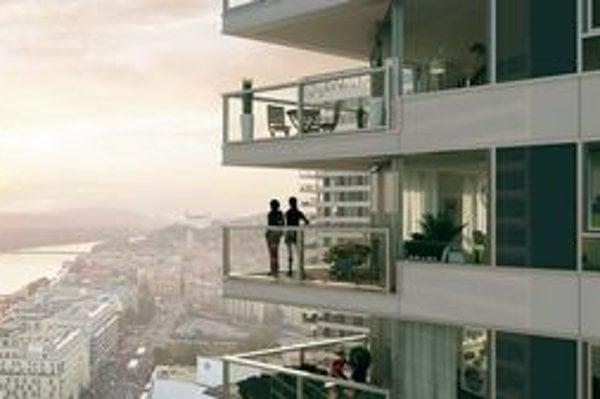 Balkóny v Panorama City.
