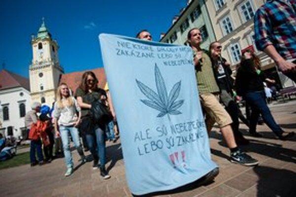 Million Marijuana March sa v Bratislave konal v apríli.