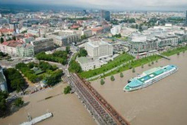 Bratislava počas nedávnych záplav.