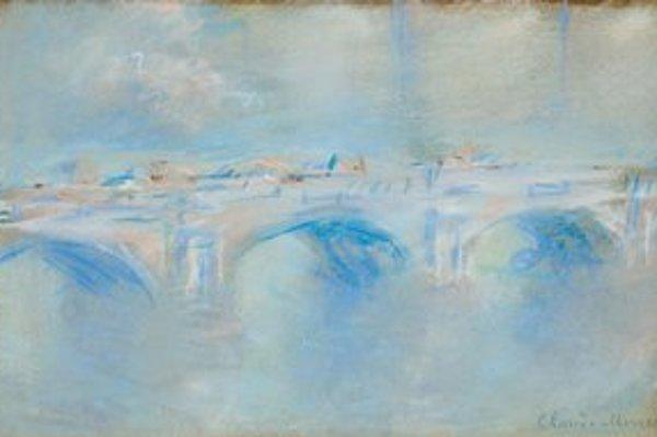 Skica Monetovho Mosta Waterloo pochádza zo zbierky Triton Foundation z Holandska.