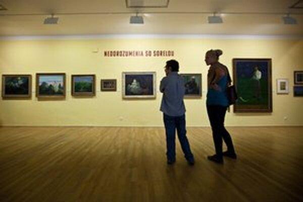 Vernisáž výstavy Prerušená pieseň v Slovenskej národnej galérii.