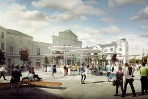 Vizualizácia Mestského centra Stará Tržnica.
