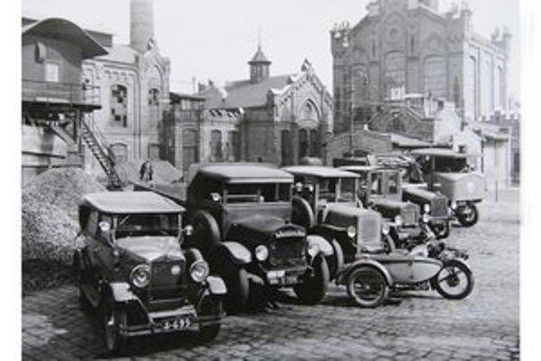 Mestská plynáreň, po roku 1928. Prvá plynáreň v Bratislave bola neďaleko dnešného Námestia slobody.