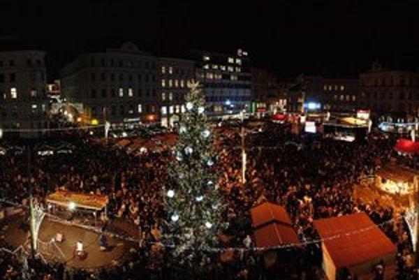 Vianočné trhy v Brne.