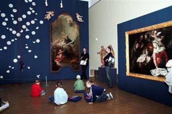 Rodinné podujatie v národnej galérii.