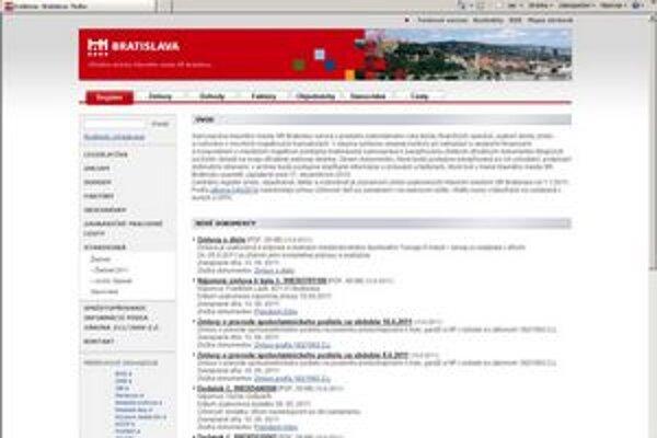 Zmluvy sú zverejnené na www.evidencia.bratislava.sk