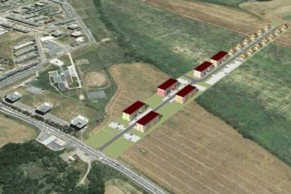 Pohľad na navrhovanú lokalitu.