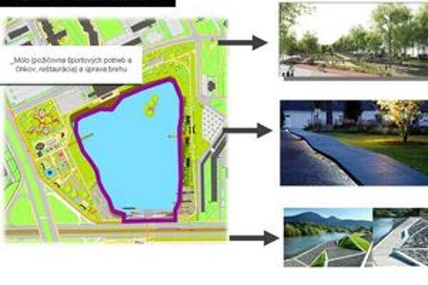 Vizualizácia k územnému plánu zón Štrkovec.