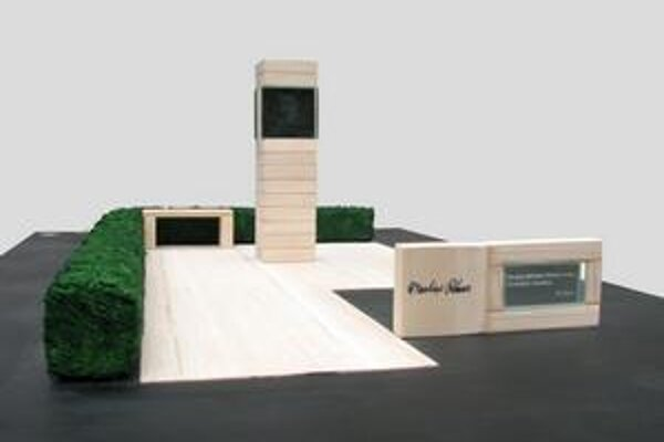 Víťazný návrh na pomník Martina Rázusa od Martina Dzureka a Daniela Bartoša.
