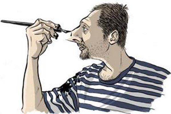 V sobotu sa Shooty (na vlastnom autoportréte)zúčastní súboja ilustrátorov.