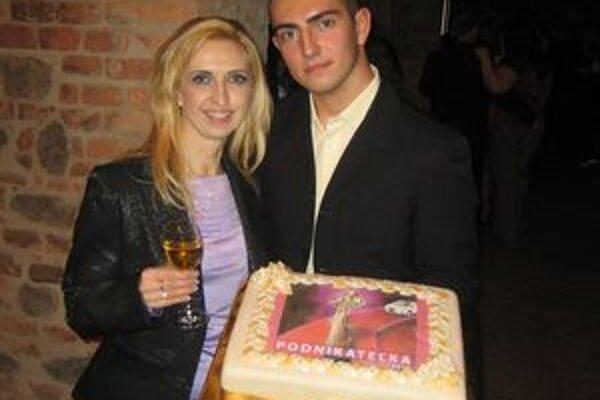 Andrea Martinová počas galavečera z odovzdávania cien Podnikateľka roka.