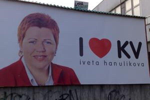Predvolebná kampaň Ivety Hanulíkovej (Smer)