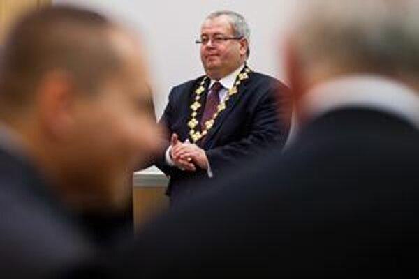 Vladimír Bajan na dnešnom zasadnutí.