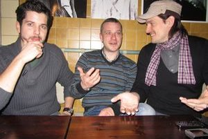 Zakladajúca trojica Modranského okrášľovacieho spolku: Martin Motáček, Roman Zelenay, Maroš Mačuha (zľava).