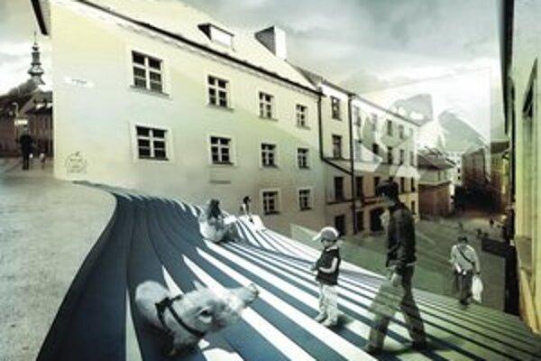 Svinský kút je projekt na Klariskej, kde by mohli vzniknúť pobytové schody aj s funkciou letnej čitárne a príležitostného kina. Mestu sa nápad pozdáva.