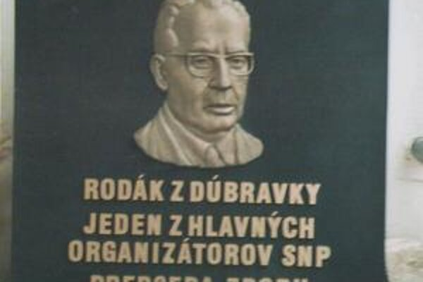 Ak by bola pamätná tabuľa Gustávovi Husákovi osadená, stala by sa pamätihodnosťou Dúbravky.