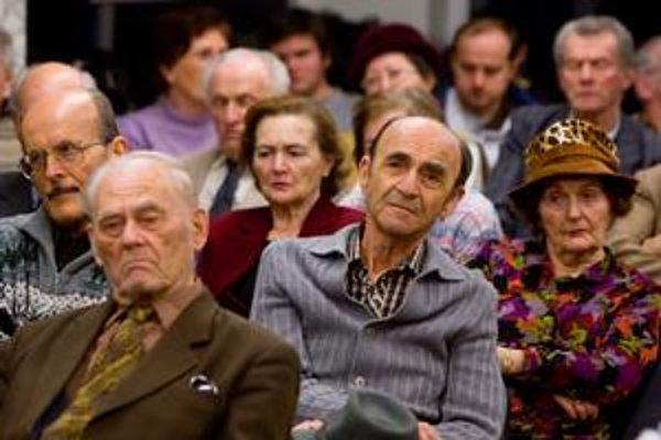 Na diskusiu prišli hlavne starší ľudia.