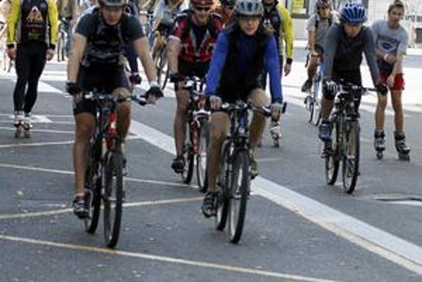 Inline cyklojazda mestom počas Dňa bez áut pred dvoma rokmi.