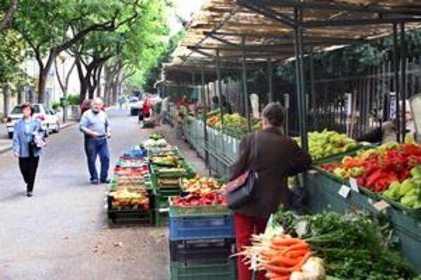 Na trhovisku nakupujú najmä starší obyvatelia z okolia. Plánovaná revitalizácia ráta s vyrúbaním tunajšej aleje.