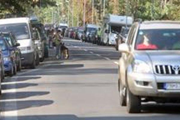 Okolie Incheby bude aj počas víkendu plné áut. Koná sa tu najväčšia psia výstava na svete World Dog Show 2009.