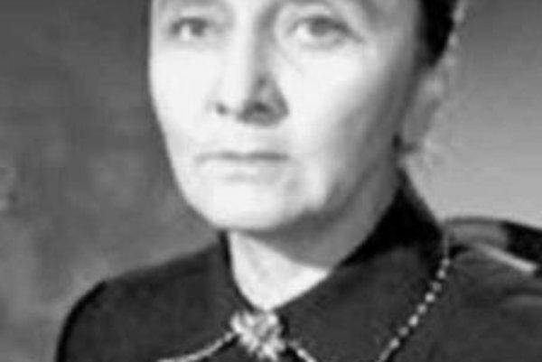 Slovenská herečka Mária Bancíková (1913 – 1962).