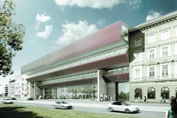 Moderná prístavba architekta Dědečka vznikla v roku 1977, dnes však už je technicky nevyhovujúca. Architekt Kusý a Paňák navrhli pre ňu nový plášť.