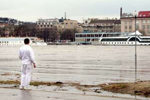 Dunaj hrozí povodňou Petržalke takmer každý rok. Pred dvoma rokmi, 31. marca 2006, dosiahla hladina na okraj parkoviska pred divadlom Aréna.