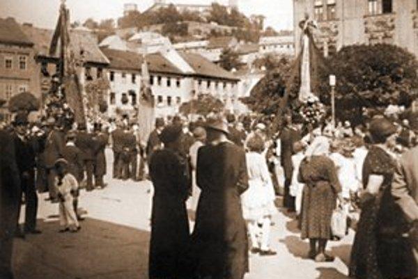 Božie telo, Rybné námestie okolo roku 1940.