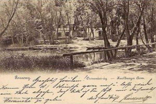 Karloveské rameno Dunaja na pohľadnici z roku 1899.