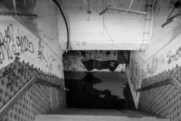 Chodci vo Svätom Jure radšej prechádzajú cez dvojprúdovku, ako by použili zdevastované podchody. Zo stropov trčia železné tyče a drôty, odrádza aj špina a zápach.