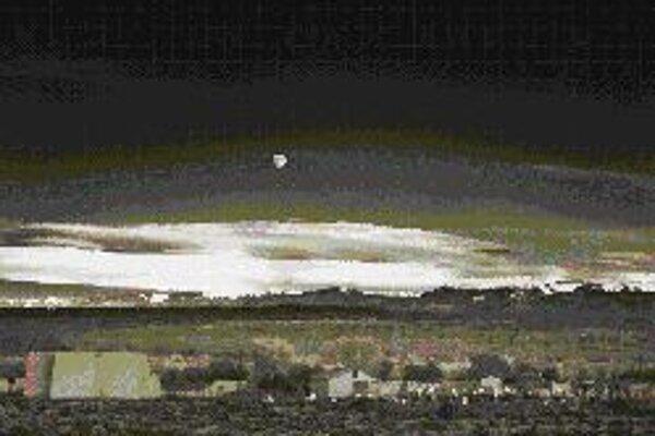 Ansel Adams: Východ mesiaca, Hernandez, Nové Mexiko, 1941.