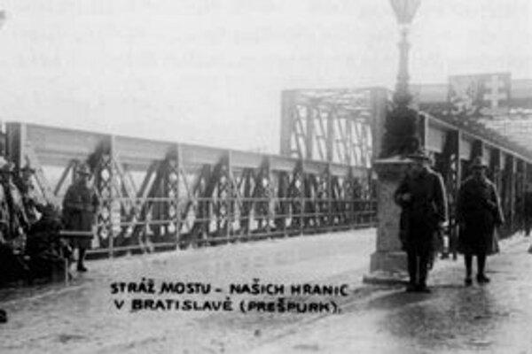 Emanuel Procházka: Stráž na moste (1919).