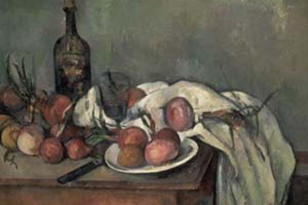 Paul Cézanne: Nature morte aux oignons, 1896 - 1898.