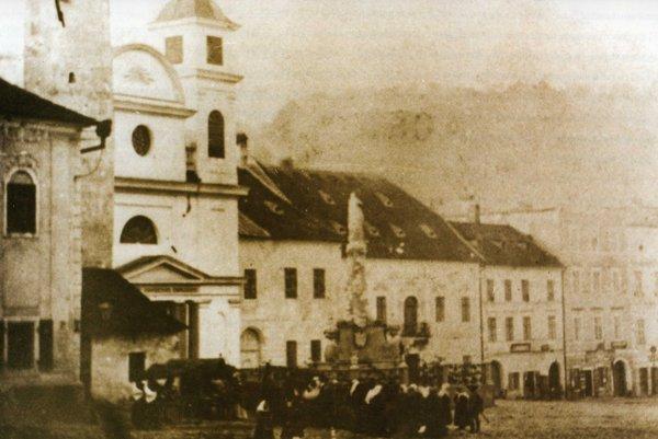 Námestie v roku 1879