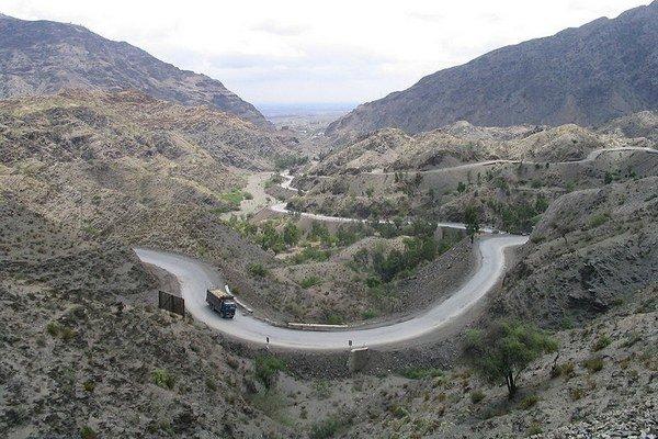 Chajbarský priesmyk na hraniciach Afganistanu s Pakistanom.