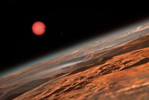 Umelecké zobrazenie hviezdneho sytému TRAPPIST-1.