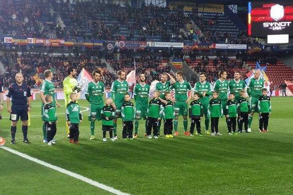 Futbalisti 1. FK Příbram - ilustračná fotografia.
