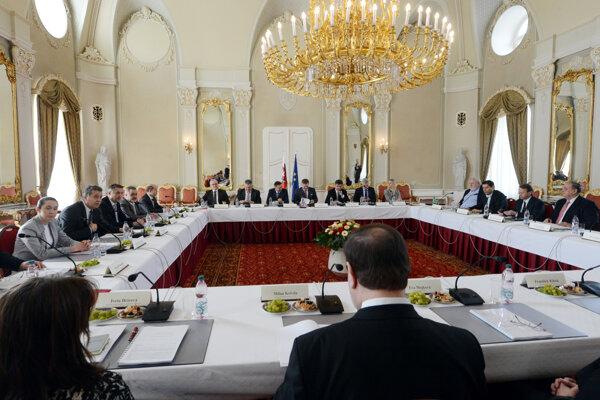 Rokovanie v súvislosti s predsedníctvom Slovenska v Rade EÚ.
