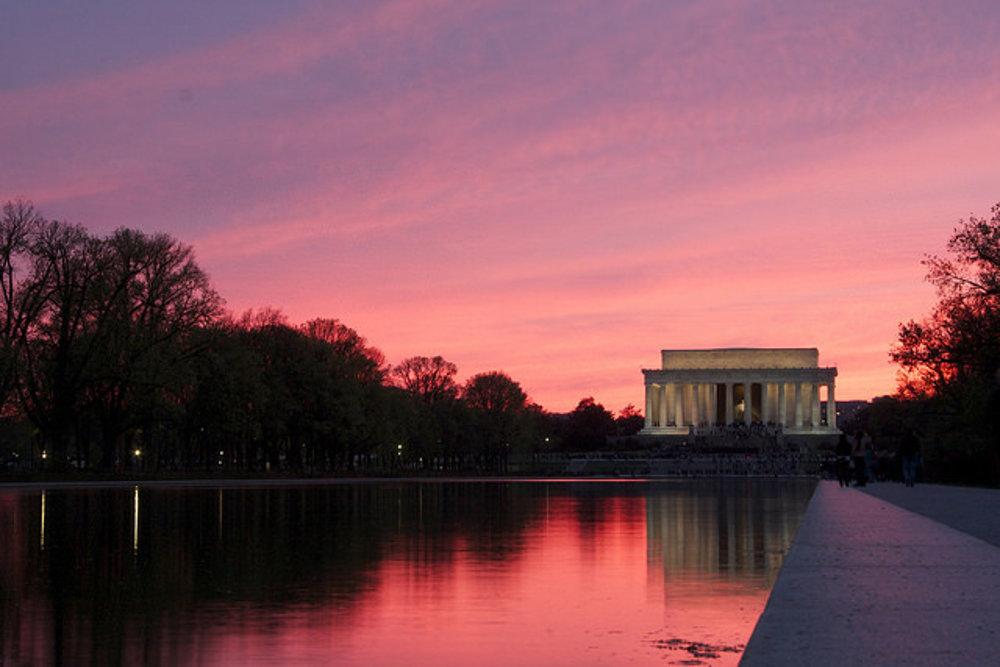 Lincolnov pamätník vo Washingtone.