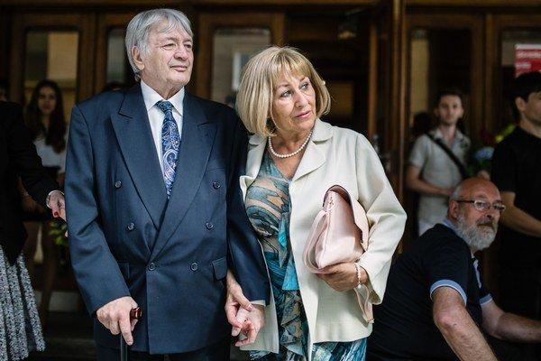 Ivan Palúch s priateľkou Idou pred pár dňami - na Chodníku slávy.