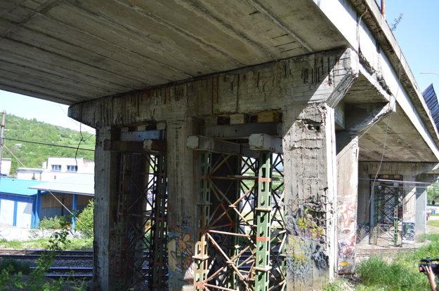 Súčasný stav horelického mosta.