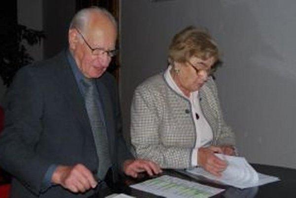Architekt Jozef Chrobák a Klára Kubičková.