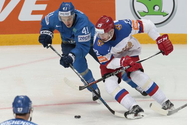 Roman Ľubimov (vpravo) reprezentoval Rusko aj na nedávnych majstrovstvách sveta.