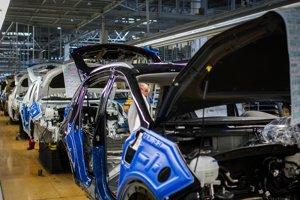 Výroba áut v žilinskom závode Kia.