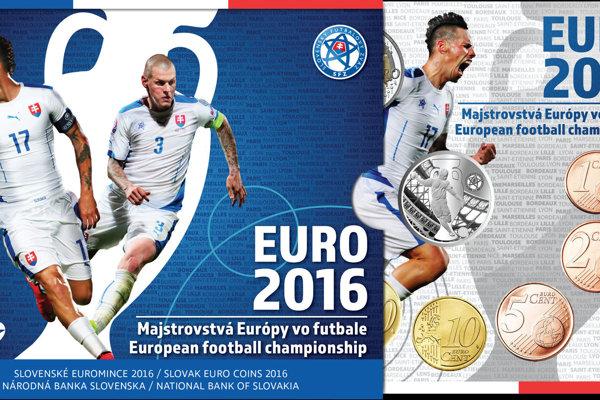 Sada euromincí pri príležitosti EURO 2016.
